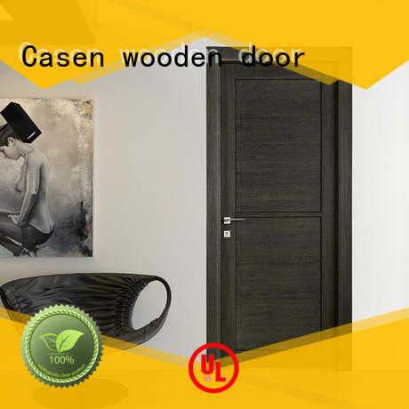 wooden composite wood door dark for bathroom Casen
