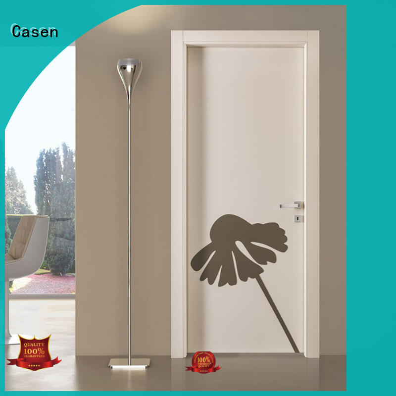 Casen cheapest factory price internal glazed doors wholesale for bedroom