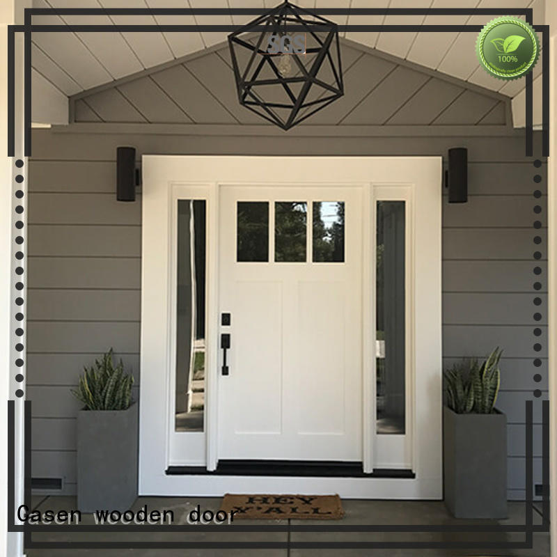 HDF doors with glass can be front door,dining room,washroom or main door  JS-1004A