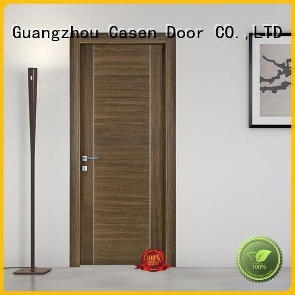 Casen popular modern wood exterior door stainless steel for bedroom