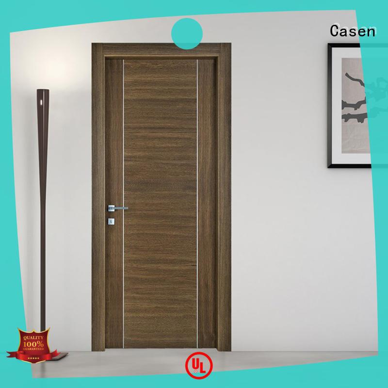 Casen ODM solid wood door natural for washroom