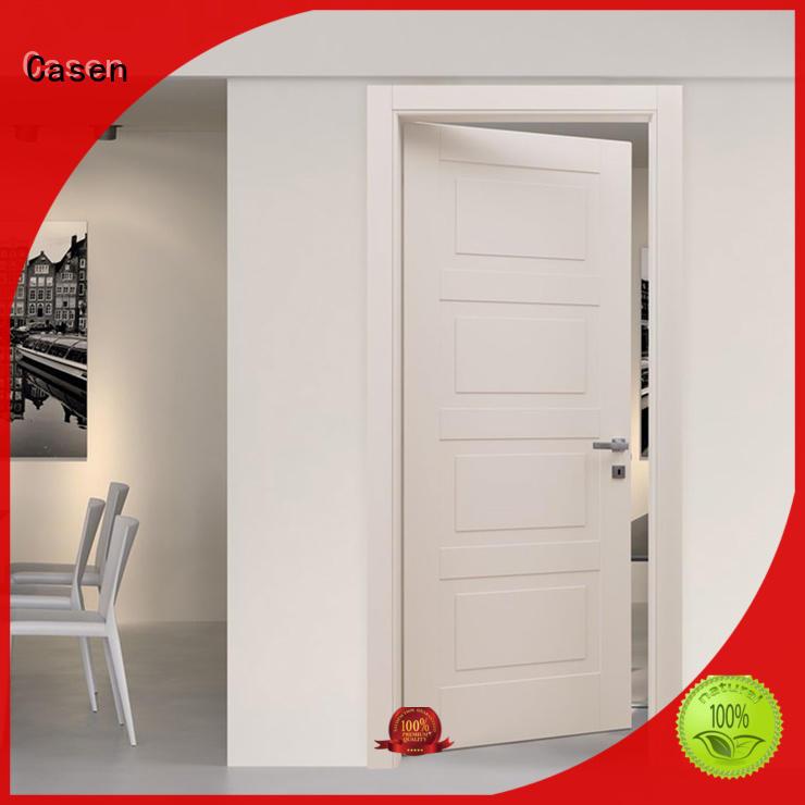 Casen plain composite wood door best design for washroom