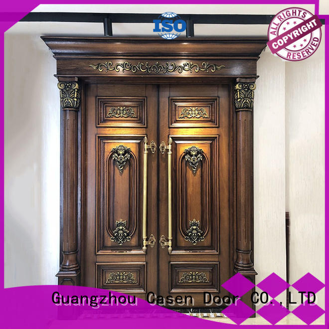 Wholesale iron luxury contemporary front doors Casen Brand