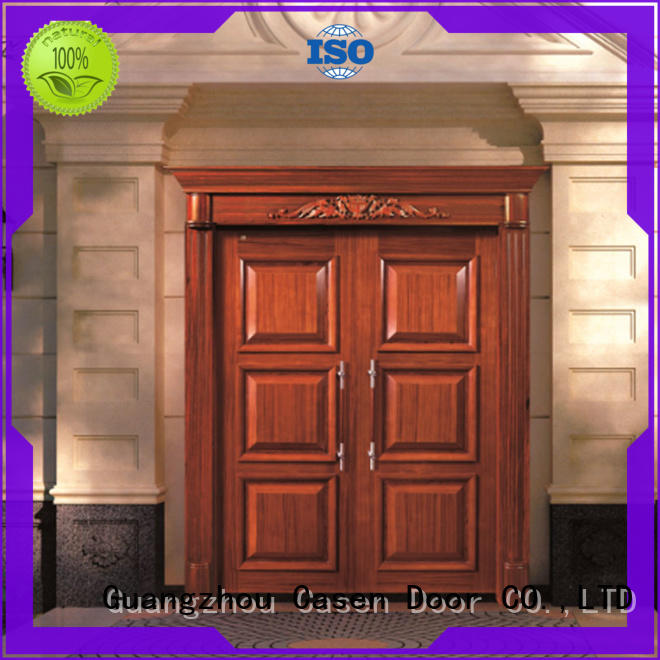 Casen Brand carved contemporary front doors edge factory