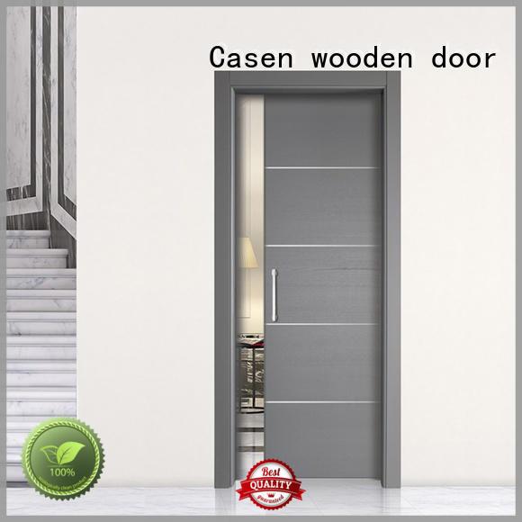Casen classic design half glass interior door glass aluminium for bathroom