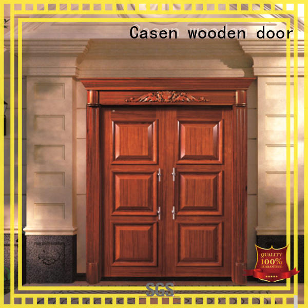 Casen wooden victorian front doors archaistic style for shop