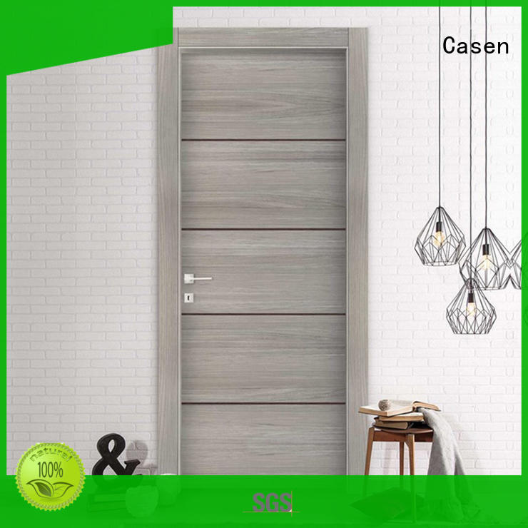 gray Custom modern bedroom bathroom doors Casen door