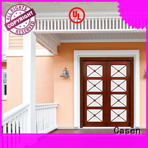 Casen wooden wooden french doors double carved for house