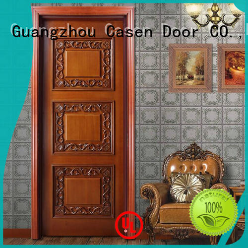 white color solid wood interior doors modern french design for store decoration