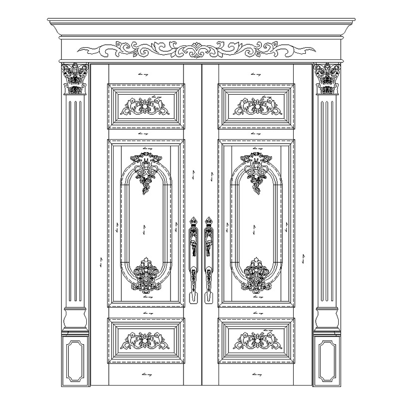 Casen beveledge solid wood front doors fashion for store-4
