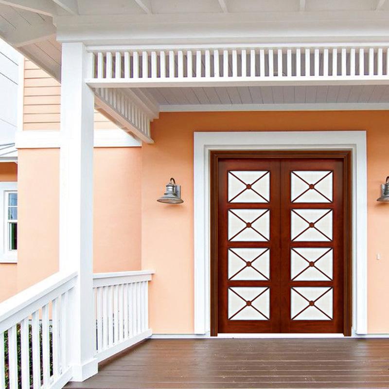 solid wood main door design glass manufacturer for store-2