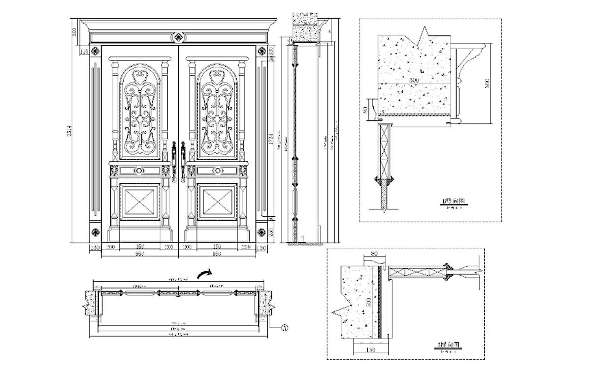 solid wood main door design glass manufacturer for store-3