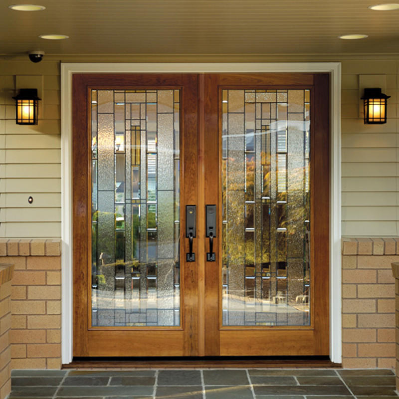 Casen beautiful oak exterior door luxury design for villa