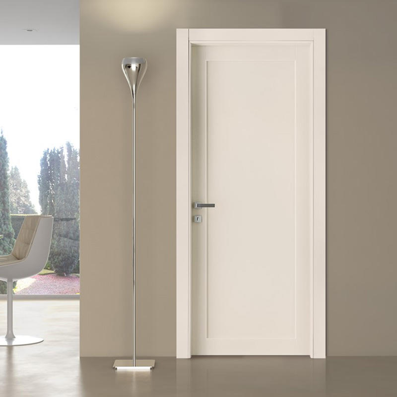 wooden light white simple 4 panel doors Casen