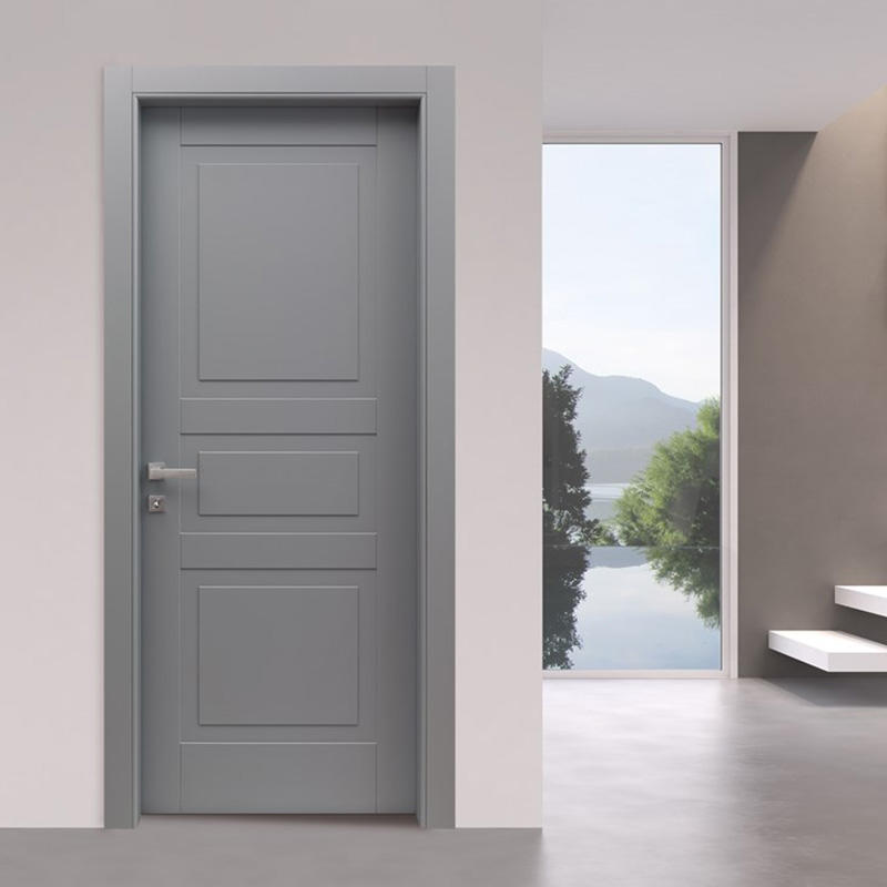 Simple design,easy style gray wooden door for bedroom gray interior wood door JS-2002A