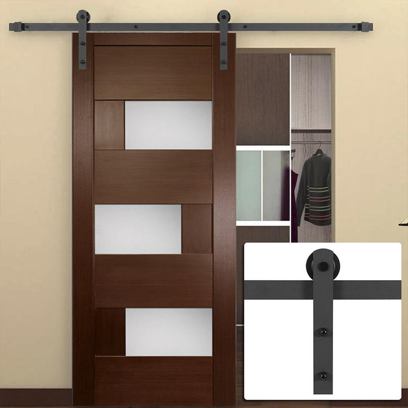 Barn doors with glass for W.C ,washroom use  JS-7002A