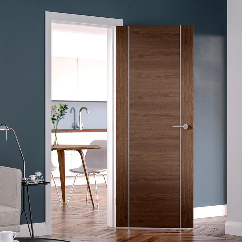 Modern design soundproof,with aluminium wooden door for hotel classic wooden door JS-5004 A