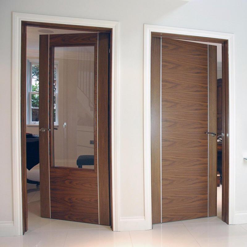Modern design soundproof,with aluminium wooden door for hotel classic wooden door JS-5004 A