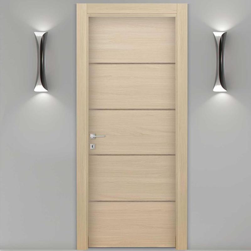 Natural solid wood ,soundproof door for hotel,classic wooden door  JS-5002A
