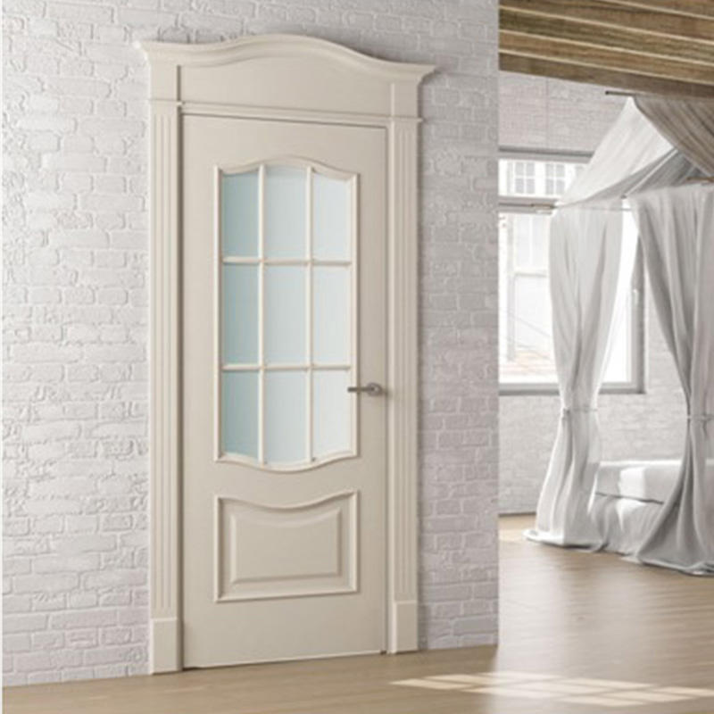 Casen white color luxury wooden doors modern for bedroom