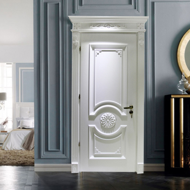 luxury home entry doors carved flowers wholesale for bedroom-1
