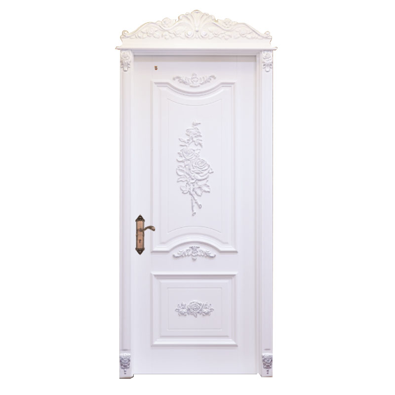 Casen white color luxury wooden doors modern for bathroom-4