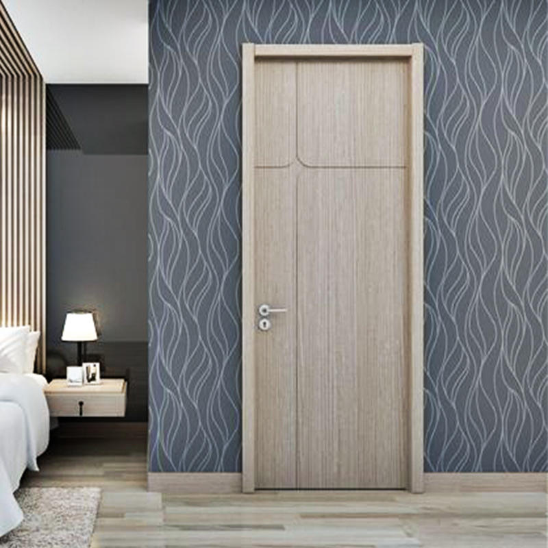 Fashion simple design modern wood door  JS-6001A