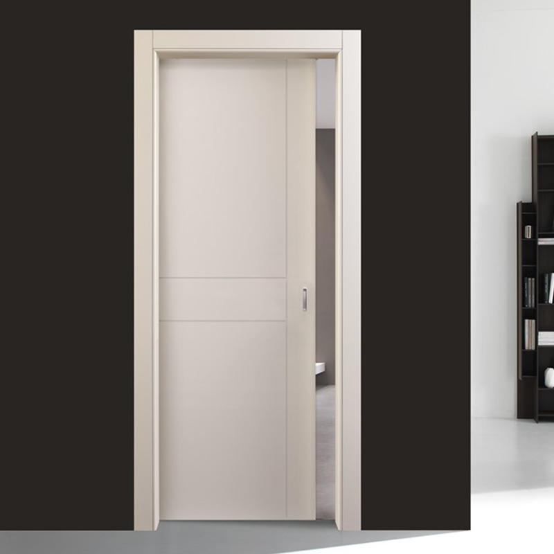 Flat white color for interior modern wood door  JS-6005A