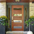 Quality Casen Brand flower glass hdf doors