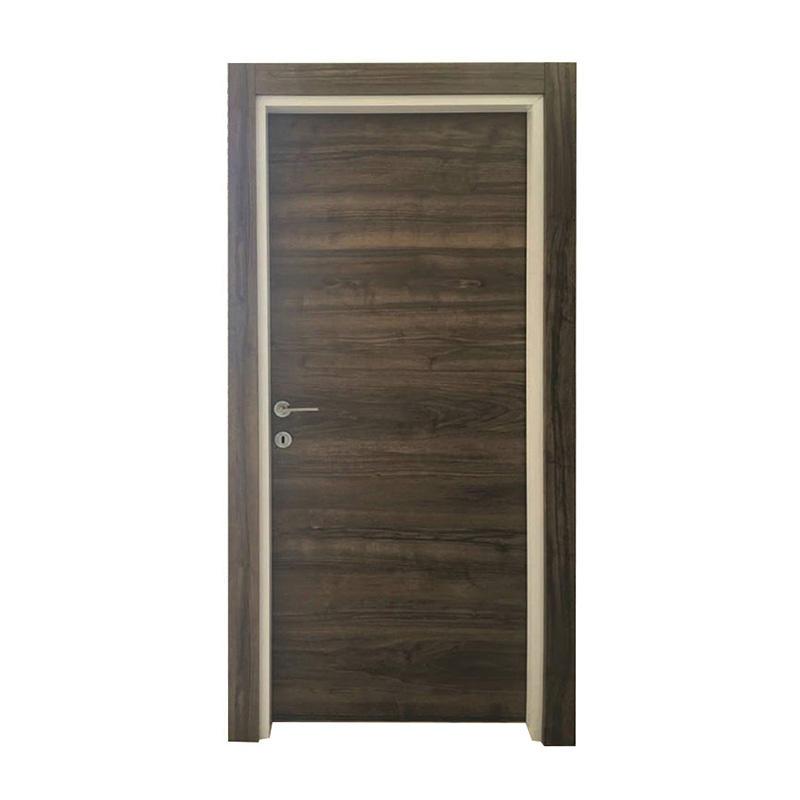 Simple design dark color MDF wood door for room use  JS-1002B