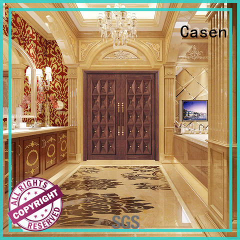 Casen outside solid wood front doors front for villa