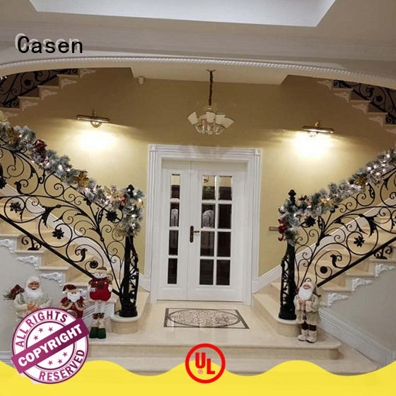 Casen natural solid wood front doors archaistic style for store