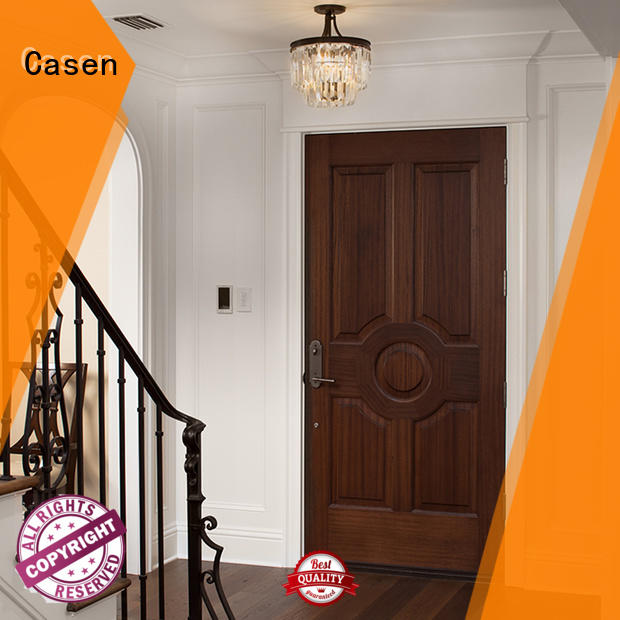 solid core mdf interior doors flat white door Warranty Casen