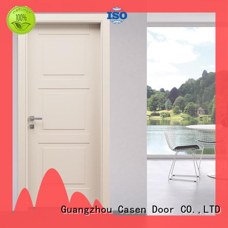 white wood modern composite doors interior for washroom Casen