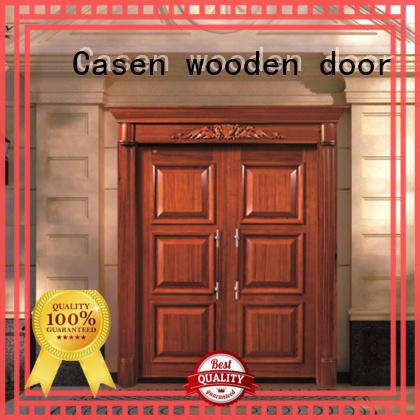 Casen iron solid wood front doors front for shop