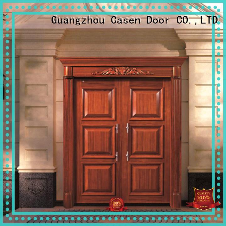 Casen natural modern entry doors glass for store