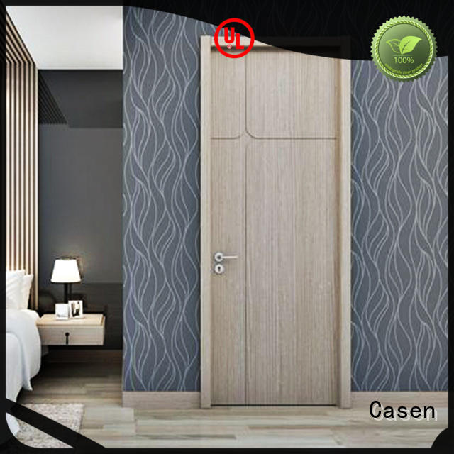 Casen durable solid wood entry door manufacturers cheapest factory price for bathroom