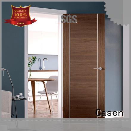 Casen wooden solid wood door natural for washroom