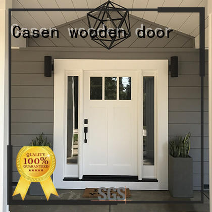 style flower hdf moulded door white Casen company