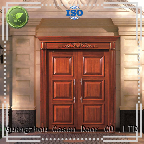 Casen wooden wooden french doors archaistic style for store