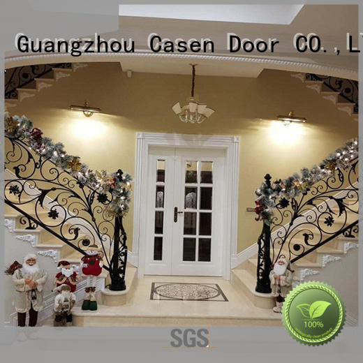 wooden french doors main double carved for store