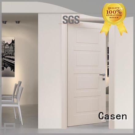 design gray wood Casen Brand 4 panel doors