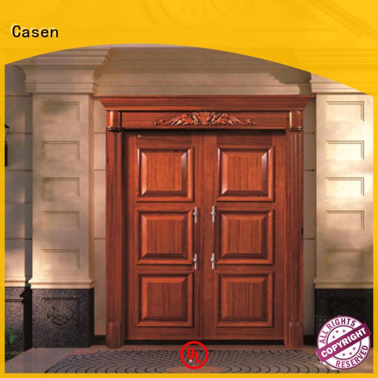 Casen glass wooden french doors antique for villa