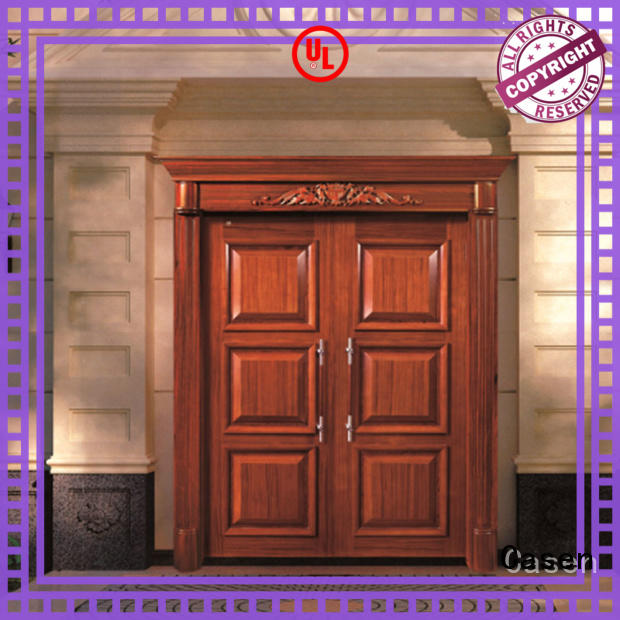main oak doors wooden for villa Casen