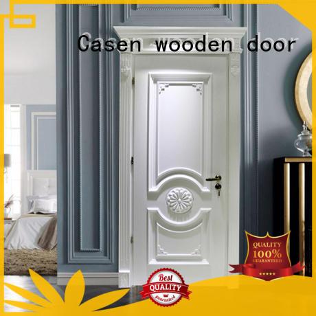 Casen american wooden door easy for bathroom