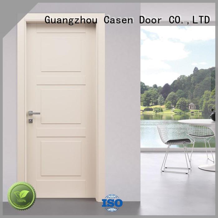 white wood composite wood door gray for washroom Casen
