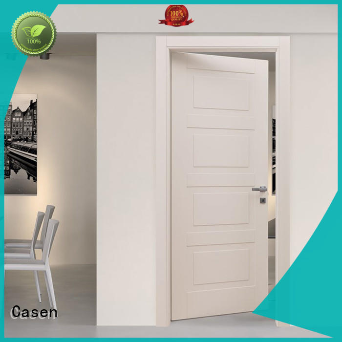 Casen white wood composite wood door dark