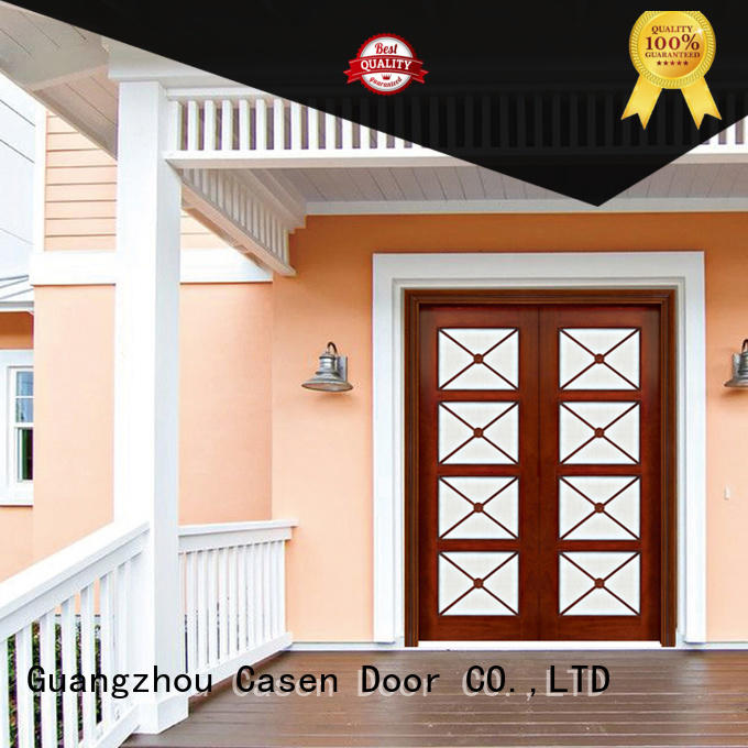 solid wood modern exterior doors fashion for store Casen