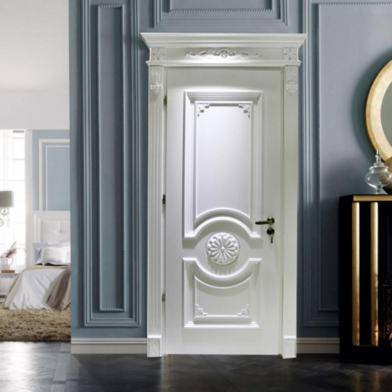 Casen white color luxury wooden doors modern for bathroom-1