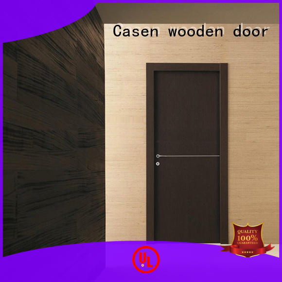 Casen ODM hardwood doors natural for washroom